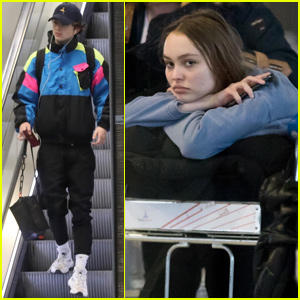 Timothee Chalamet & Lily Rose Depp Couple Up in Paris for Christmas