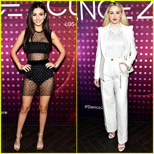 Victoria Justice & Chloe Lukasiak are Co-Chairs at amfAR's Dance2Cure Kickoff
