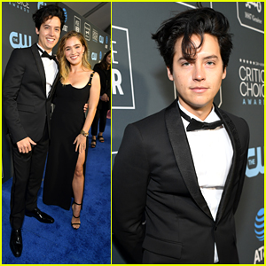 Cole Sprouse & Haley Lu Richardson Forget The 'Five Feet Apart' Rule at at Critics' Choice Awards 2019