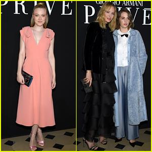 Dakota Fanning & Maya Hawke Attend Giorgio Armani Prive Show in Paris