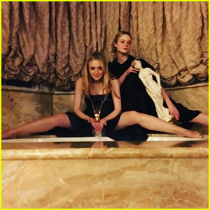Dakota Fanning Rang In 2019 With Little Sis Elle 2019