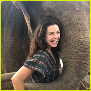 Danielle Campbell Celebrates New Year in Thailand at Elephant Sanctuary