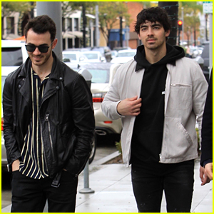Joe Jonas Hangs Out with Brother Kevin in Beverly Hills