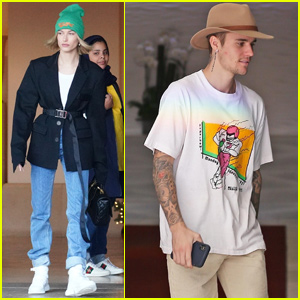 Justin & Hailey Bieber Get Some Work Done Separately in LA