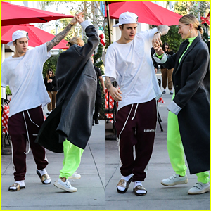 Justin Bieber Twirls Wife Hailey Bieber Around While Heading to Lunch in LA