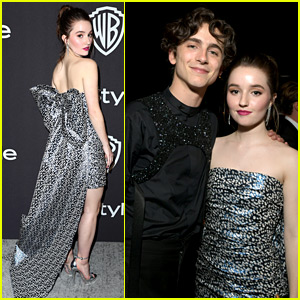 Kaitlyn Dever Reunites with Timothee Chalamet at Golden Globes Parties!