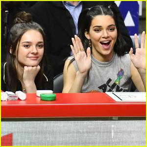 Kendall Jenner Cheers on Boyfriend Ben Simmons in LA!