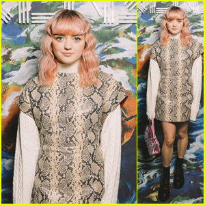 Maisie Williams Looks Pretty at Kenzo Show During Paris Fashion Week!