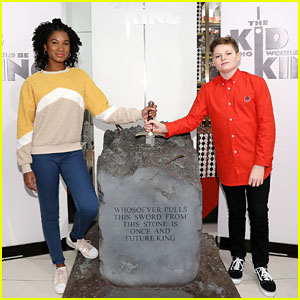 Rhianna Dorris & Louis Ashbourne Serkis Attend 'The Kid Who Would Be King' Photo Call!