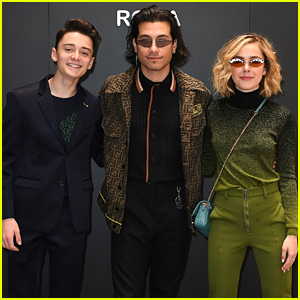 Kiernan Shipka Joins Rob Raco & Noah Schnapp at Fendi Show in Milan