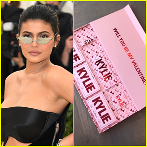 Kylie Jenner Shows Off Kylie Cosmetics' Valentine's Day Collection