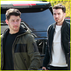Nick Jonas Joins Older Bro Kevin for Meeting in WeHo