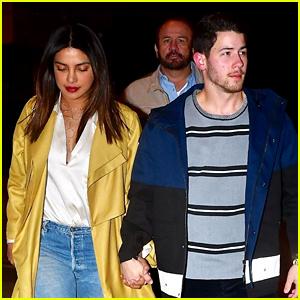 Nick Jonas Enjoys a Date Night with Wife Priyanka Chopra
