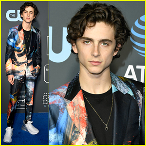Timothee Chalamet Wears Abstract Painting Suit To Critics' Choice Awards 2019