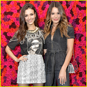 Victoria Justice & Madison Reed Have Sister Time at Alice + Olivia Presentation!