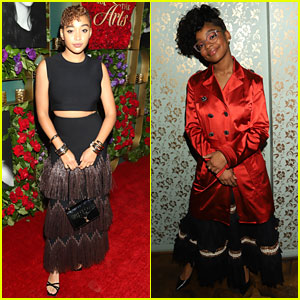 Amandla Stenberg & Marsai Martin Toast To The Arts