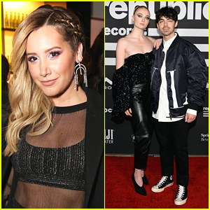 Ashley Tisdale Debuts Long Hair at Republic Records' Grammys Party