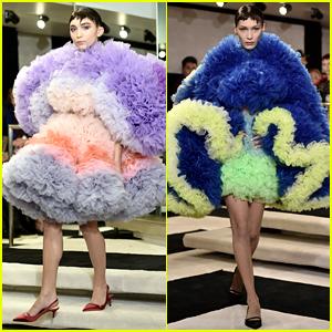 Rowan Blanchard & Bella Hadid Wear NYFW's 'Giant Dresses'