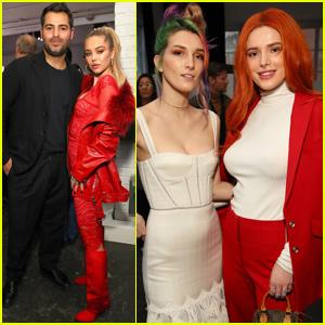 Bella Thorne & Delilah Belle Hamlin Step Out For 'Jonathan Simkhai' NYFW Show
