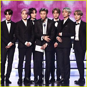 BTS Present Best R&B Album To H.E.R. at the Grammys 2019