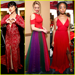Chloe Lukasiak, Becky G, Skai Jackson & More Get Ready for the Red Dress Collection Fashion Show 2019
