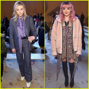 Chloe Moretz & Maisie Williams Step Out for Coach's Fashion Show!