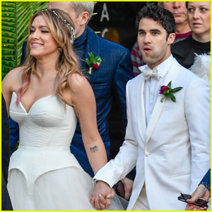 Darren Criss & Mia Swier Look So in Love in Their Wedding Photos!