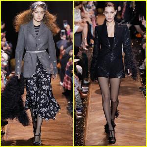 Gigi & Bella Hadid Walk in Michael Kors NYFW Show!