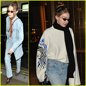 Gigi Hadid Prepares For London Fashion Week