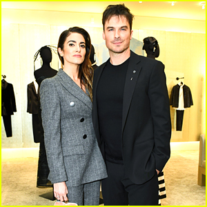 Ian Somerhalder Looks So Suave at Armani Party with Nikki Reed!