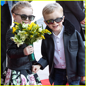Prince Jacques & Princess Gabriella of Monaco Steal The Show During Shopping Center Event