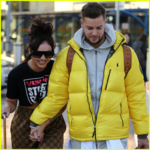 Jesy Nelson Holds Hands With Chris Hughes While Arriving Back From Vacation