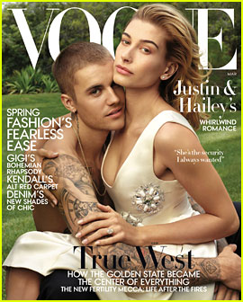 Justin Bieber Embraces Wife Hailey on 'Vogue' Cover!