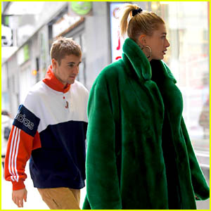Justin & Hailey Bieber Spend the Day Together in NYC