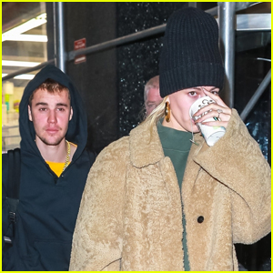 Justin & Hailey Bieber Grab Lunch in NYC
