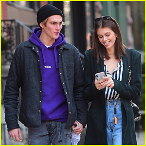 Kaia Gerber Spends Time with Brother Presley in NYC