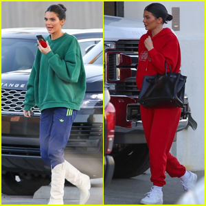 Kylie & Kendall Jenner Meet Up for a Photo Shoot!