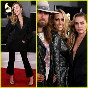 Miley Cyrus' Parents Join Her at Grammys 2019!