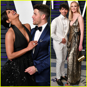 Nick & Joe Jonas & Their Leading Ladies Step Out for Oscars Party!