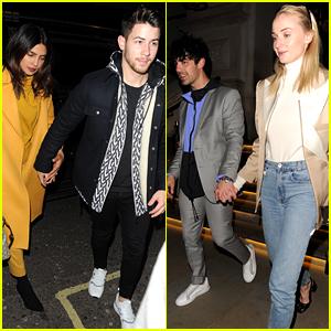 Nick & Joe Jonas Go On a Double Date in London with Priyanka Chopra & Sophie Turner
