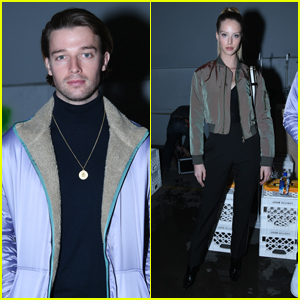 Patrick Schwarzenegger & GF Abby Champion Couple Up at John Elliott Fashion Show!