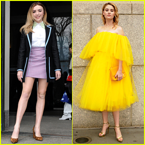 Peyton List & Virginia Gardner Turn Heads at Carolina Herrera Fashion Show in NYC