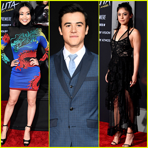 Lana Condor Joins Rosa Salazar & Keean Johnson at 'Alita' L.A. Premiere!