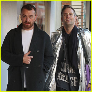 Sam Smith Enjoys a Stroll With Songwriter Justin Tranter!
