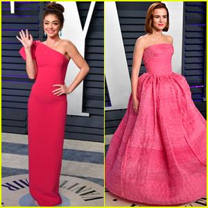 Sarah Hyland & Zoey Deutch Go Glam for Vanity Fair's Oscars 2019 Party