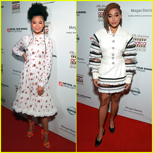 Storm Reid & Her Neon Heels Honor Amandla Stenberg at AAFCA Awards 2019