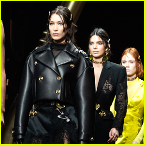 Bella Hadid & Kendall Jenner Walk the Versace Runway in Milan