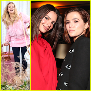 Zoey Deutch Stops By DIRECTV Lounge after 'Zombieland: Double Tap' Filming