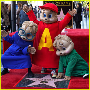 Alvin & The Chipmunks Receive Star On The Hollywood Walk of Fame!