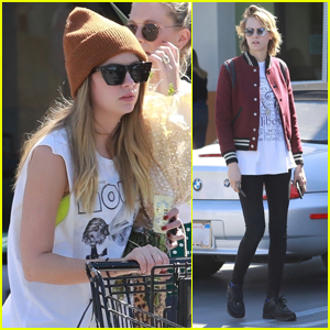 Ashley Benson Goes Shopping with Girlfriend Cara Delevingne